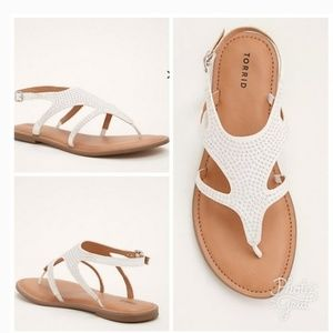 Torrid Studded Sandals Size 11 Womens Flaw